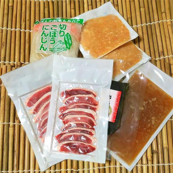 青森県産鴨の鍋セット小家族用ハーフセットの内容