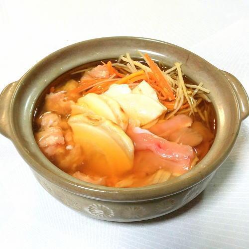 青森地鶏シャモロックせんべい鍋