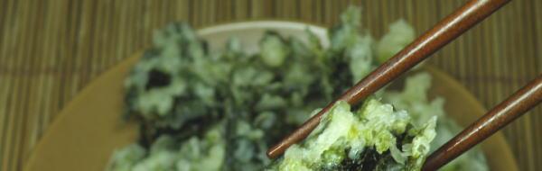 あおさの天ぷら調理例