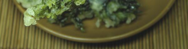パリパリの海藻あおさの天ぷらです。