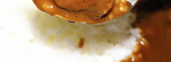 馬肉と鹿肉の味がカレールーに溶け込んで美味しいカレー