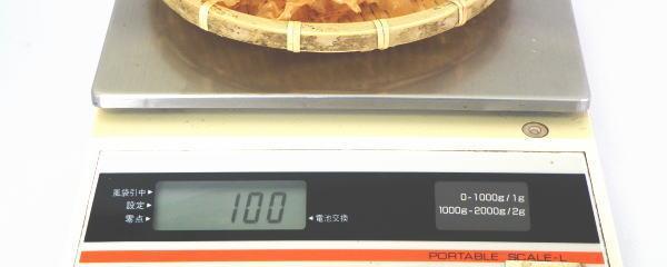味付け帆立貝ミミ(ボイルほたて貝ひも)の珍味の量り売り