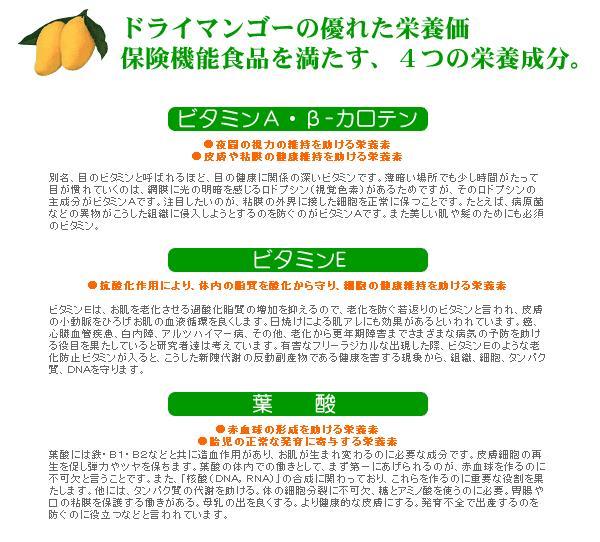保険機能食品を満たす栄養成分