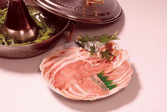 青森県産のしゃぶしゃぶ肉ガーリックポーク