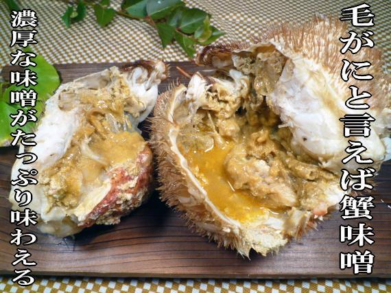 北海道稚内産の毛がには蟹味噌が最高に美味い