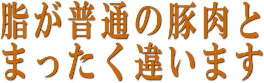 青森を代表するブランド黒豚は脂が非常に美味しいです。