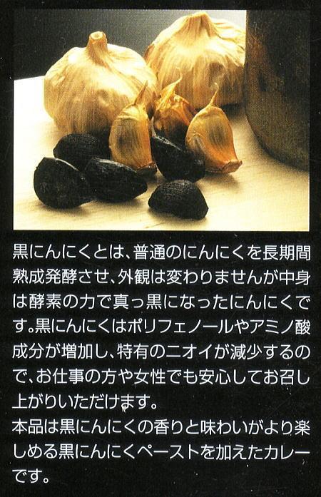 国産にんにくを熟成させて作った野菜カレー【黒にんにくカレー】