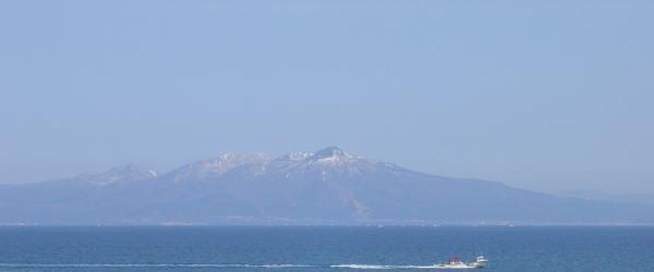 青森県の陸奥湾の風景