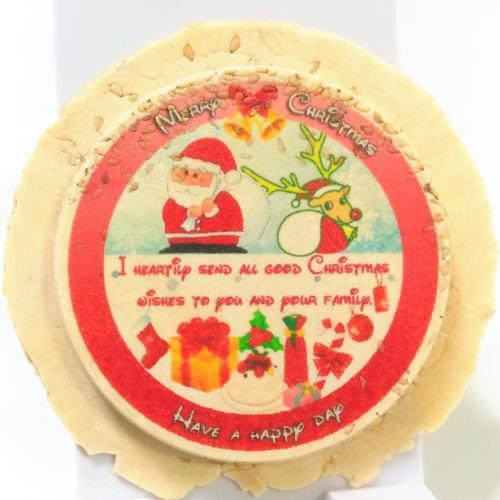 クリスマス用のサンタクロースせんべいNo1