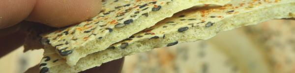 ノンフライの七味にんにくの煎餅